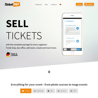 TicketPAY - Complete package for event organizers