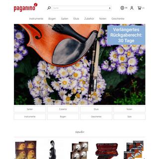 ArchiveBay.com - paganino.de - PAGANINO - Streichinstrumente und Zubehör online kaufen