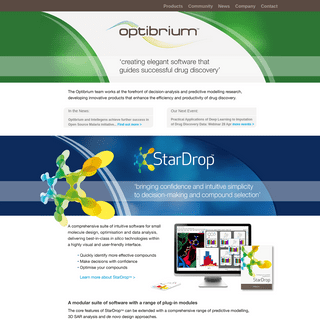 ArchiveBay.com - optibrium.com - Optibrium - Optibrium creates elegant software solutions for small molecule design, optimisation and data analysis