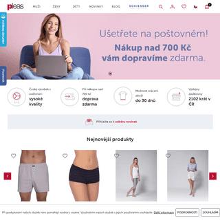 ArchiveBay.com - pleas.cz - Pleas a.s. - kvalitní české prádlo