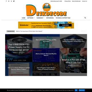DESKDECODE.COM - Window Problem's Solution - Computer Hardware Problem's Forums - PC Repair Tutorials
