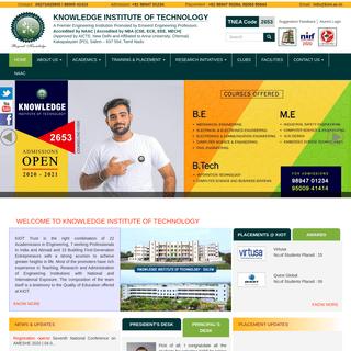 KIOT - Top & Best Engineering College in Salem, Tamilnadu