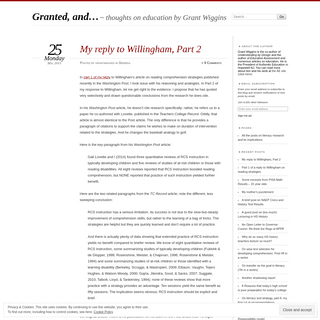 Granted, and... - thoughts on education by Grant Wiggins