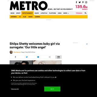 Shilpa Shetty welcomes baby girl via surrogate - Metro News
