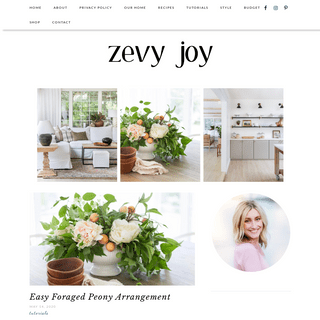 zevy joy - Designing and creating on a simple budget.