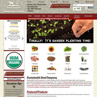 Heirloom Seeds & Organic Seeds - Sustainable Seed Co. – Sustainable Seed Company