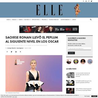 Saoirse Ronan llevó el peplum al siguiente nivel en los Oscars