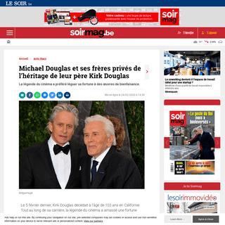 ArchiveBay.com - soirmag.lesoir.be/282433/article/2020-02-24/michael-douglas-et-ses-freres-prives-de-lheritage-de-leur-pere-kirk-douglas - Michael Douglas et ses frères privés de l'héritage de leur père Kirk Douglas - Soirmag