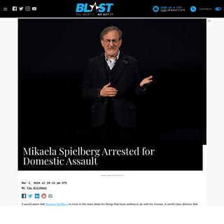 ArchiveBay.com - theblast.com/117555/mikaela-spielberg-arrested-for-domestic-assault - Mikaela Spielberg Arrested for Domestic Assault