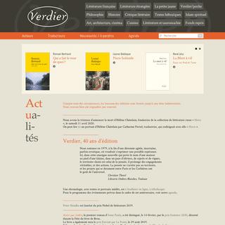 Accueil - Editions Verdier