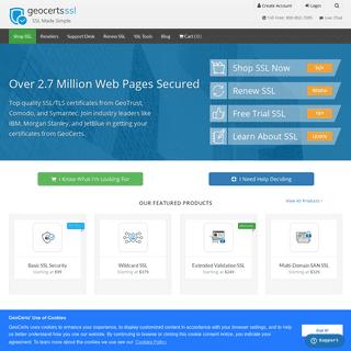 SSL Certificates from GeoTrust, Symantec, Comodo, DigiCert at Wholesale Prices