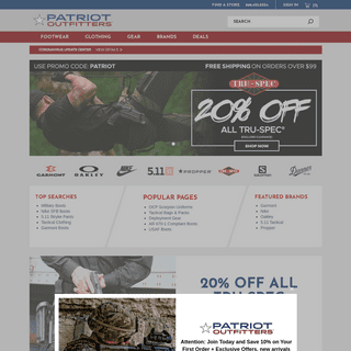 Patriot Outfitters - Military Boots, Uniforms & Tactical Gear