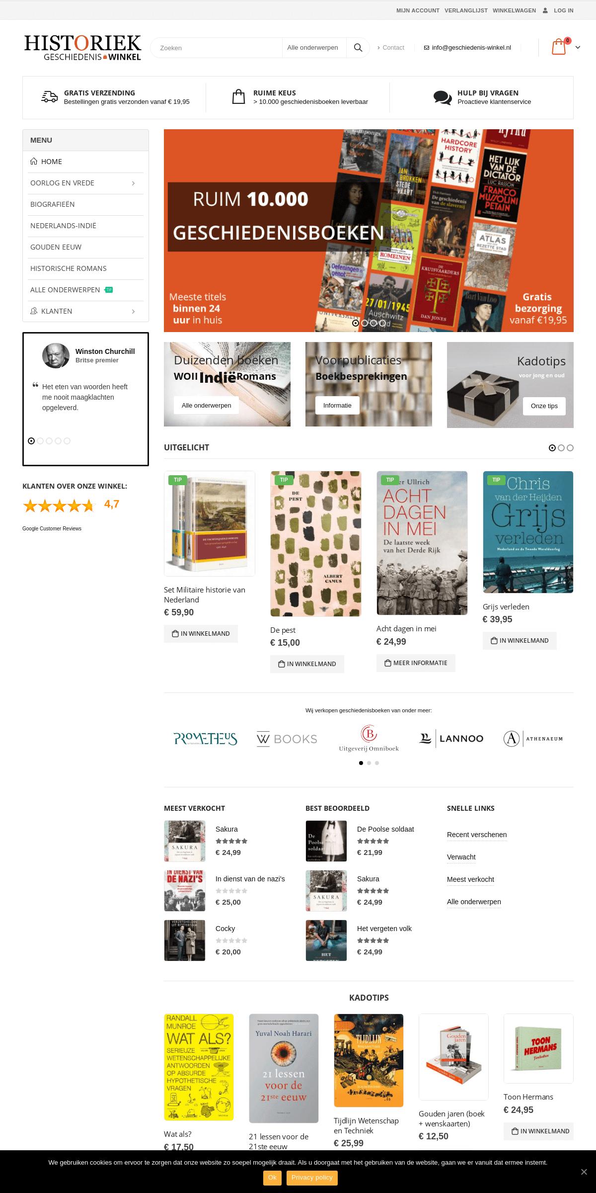 Geschiedeniswinkel - Duizenden geschiedenisboeken