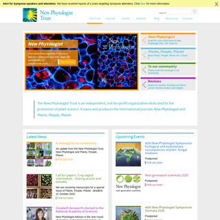 New Phytologist Trust - an independent charity dedicated to the promotion of plant science