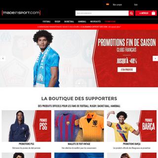 MadeinSport - Foot – Rugby – Basket – Hand - Boutique 100- Sport