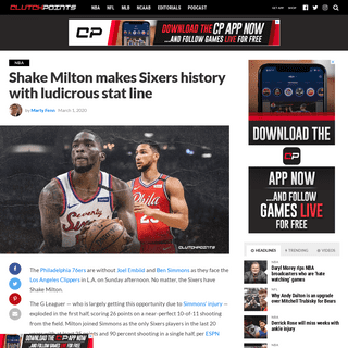 Sixers news- Shake Milton makes franchise history with ludicrous stat line