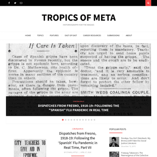 Tropics of Meta – historiography for the masses