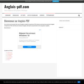Anglais-pdf.com – Cours d'anglais en PDF gratuits à télécharger