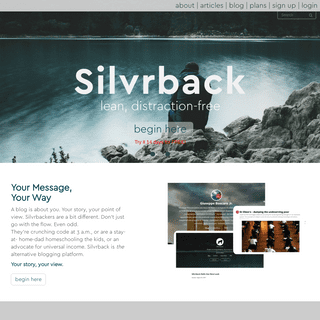 Silvrback - The Best At Simple Blogging - Best Platform For Programmers