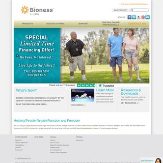 Bioness Inc. - foot drop - drop foot - hand treatment - hand rehabilitation