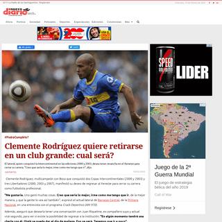 Clemente Rodríguez quiere retirarse en un club grande- cual será- - Nuevo Diario
