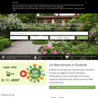 Ecobnb- Trova il tuo alloggio Eco Sostenibile