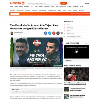 Tira Persikabo Vs Arema- Adu Tajam Alex Goncalves dengan Elias Alderete - Bola Liputan6.com