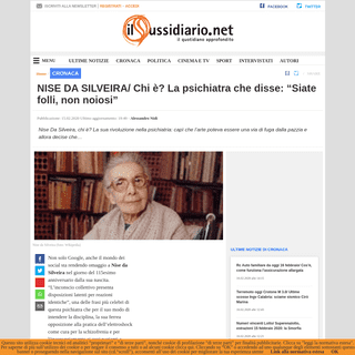 ArchiveBay.com - www.ilsussidiario.net/news/nise-da-silveira-chi-e-lalunna-di-carl-jung-che-combatte-elettroshock-e-lobotomia/1985968/ - NISE DA SILVEIRA- Chi è- La psichiatra che disse- -Siate folli, non noiosi-