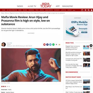 Mafia Movie Review- Arun Vijay and Prasanna film is high on style, low on substance - Movies News