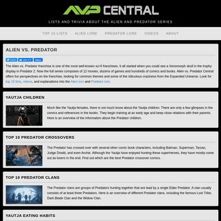 Alien vs. Predator Central - AvP Central