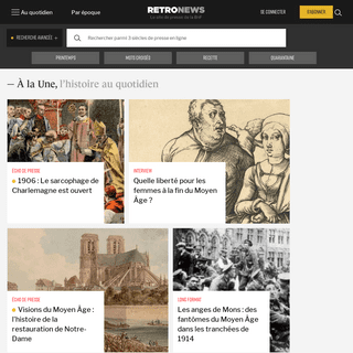 RetroNews - Le site de presse de la BnF - L'histoire au quotidien