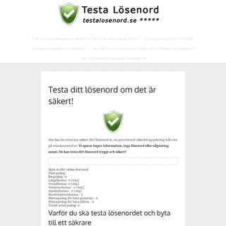 Testa lösenord - Testa hur säkert ditt lösenord är. Guider och säkerhetsnyheter