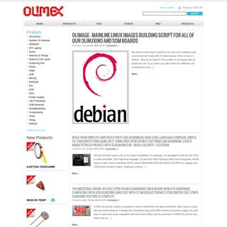 OLIMEX LTD - OLinuXino Arduino Maple Pinguino ARM Open Source Hardware Development Boards