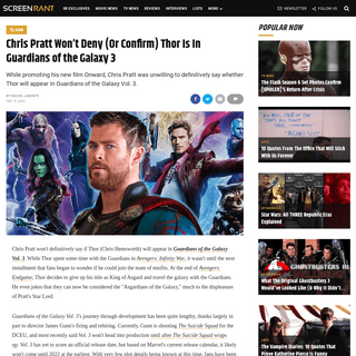 ArchiveBay.com - screenrant.com/guardians-galaxy-3-thor-marvel-movie-chris-pratt/ - Guardians of the Galaxy 3- Chris Pratt Won't Deny Thor Is In MCU Film