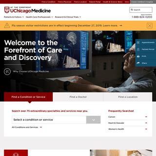 Hospitals, Clinics & Doctors in IL - UChicago Medicine