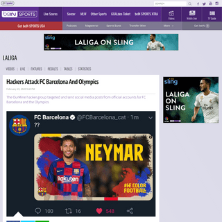 Hackers Attack FC Barcelona And Olympics