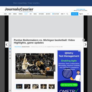 Purdue basketball vs. michigan basketball- Video Highlights, score