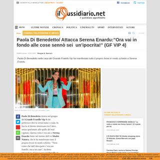 Paola Di Benedetto- Attacca Serena Enardu--Ora vai in fondo alle cose sennò sei un'ipocrita!- (GF VIP 4)