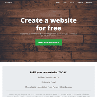 Create a website for free - Yousher