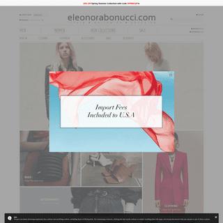 Shop ELEONORABONUCCI.COM - Luxury Worldwide Shopping - Men & Women Fashion Designer - ITALY