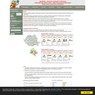 Preturi carburanti Romania - Preturi carburanti Bucuresti - Harta Romania - Harta Bucuresti - GazOnline - Statii de alimentare.