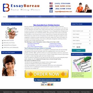 Best Australia Essay Writing Services - Best Essays - Essaybureau.com.au