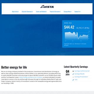 Investor Overview - Avista Corporation