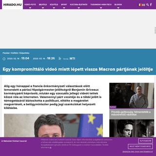 Egy kompromittáló videó miatt lépett vissza Macron pártjának jelöltje - hirado.hu