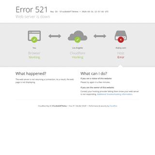 thatisy.com - 521- Web server is down