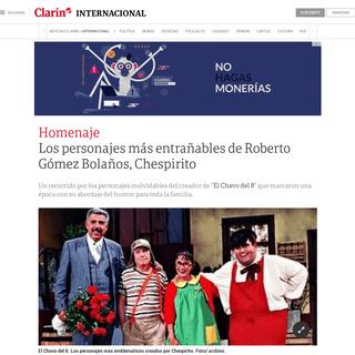 Los personajes más entrañables de Roberto Gómez Bolaños, Chespirito - Clarín