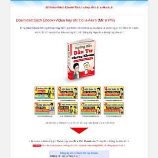 Download Sách Ebook+Video hay nhất của Akira (Miễn Phí) - 50 Video+Sách Ebook+Tài Liệu hay nhất của Akira Lê
