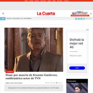 Pesar por muerte de Ernesto Gutiérrez, emblemático actor de TVN