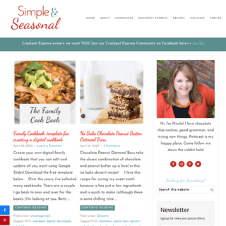 Simple and Seasonal - Making life simpler and holidays happier with easy recipes, tips and creative ideas