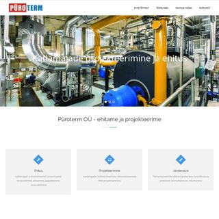 Püroterm OÜ – Katlamajad ja küttesüsteemid, ehitus, projekteerimine, järelevalve